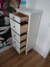 Montaż komody HEMNES 5 szuflad, biała bejca IKEA