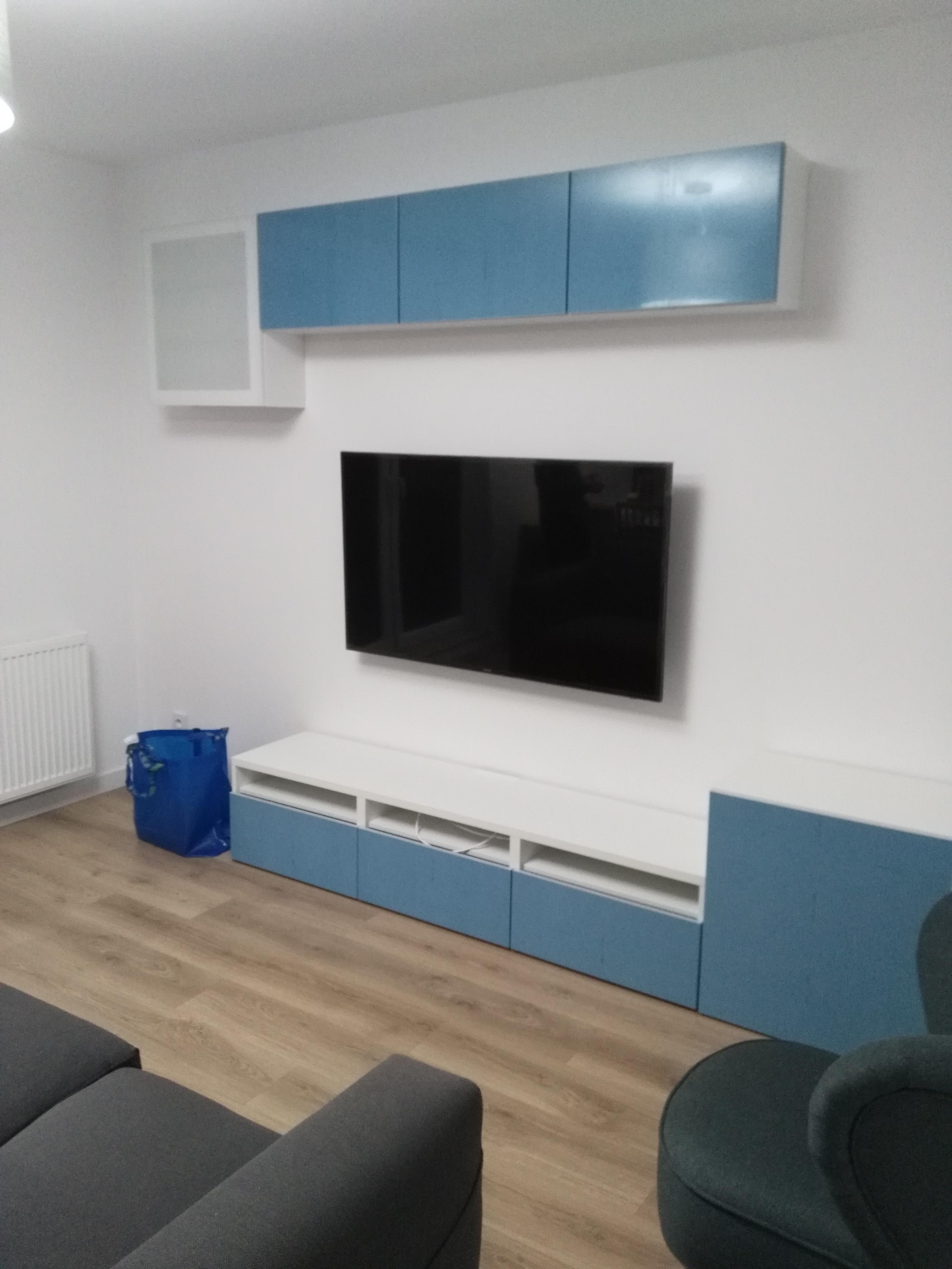Montaż mebli i telewizora do ściany